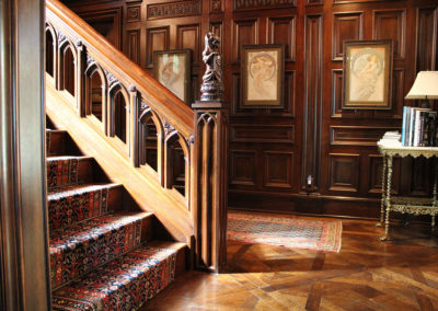 custom stair components, hand rail, balusters, spindles, stair rail, newels, volute, easing